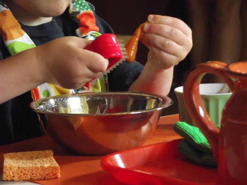 Carrot scrubbing
